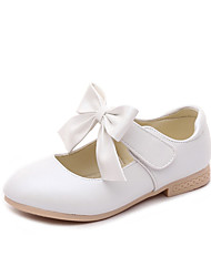 cheap -Girls' Comfort / Flower Girl Shoes PU Flats Little Kids(4-7ys) / Big Kids(7years +) Bowknot Gold / White / Pink Spring / Fall / Party & Evening / TR