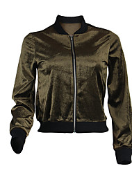cheap -Women's Velour Track Jacket Running Jacket Streetwear Winter Running Fitness Breathable Warm Soft Sportswear Jacket Top Long Sleeve Activewear Stretchy / Velvet