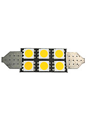 cheap -1pcs 42mm Car Light Bulbs 2 W SMD 5050 80 lm 6 LED License Plate Lights / Interior Lights For