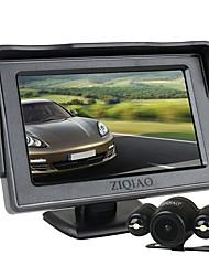 Недорогие -Ziqiao 4,3-дюймовый TFT ЖК-экран автомобиля монитор вспомогательная парковка 2 светодиодный свет ночного видения комплект камеры заднего вида