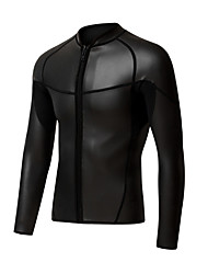 cheap -Women's Wetsuit Top Wetsuit Jacket 2mm CR Neoprene Top UV Sun Protection Ultraviolet Resistant UPF50+ Long Sleeve Front Zip - Snorkeling Wakeboarding Water Sports Solid Colored Summer