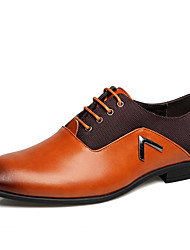 cheap -Men's Formal Shoes Cowhide Spring / Fall Casual / British Oxfords Non-slipping Black / Brown / Party & Evening