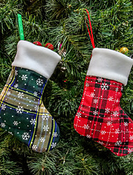 cheap -Christmas Green Red Sock Ornament Christmas Tree Ornaments Christmas Decorations Holiday Ornament
