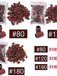 cheap -100 Pcs Nail Art Sanding Bands Set For Nail Drill Machine Bits Manicure Pedicure