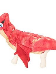 cheap -Dog Halloween Costumes Outfits Animal Holiday Halloween Winter Dog Clothes Red Costume Polyster XS S M L XL