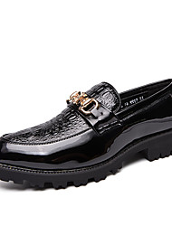 cheap -Men's Formal Shoes PU Spring & Summer / Fall & Winter Casual / British Loafers & Slip-Ons Black
