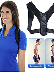 cheap -Unisex Back Adjustable Spine Brace Posture Corrector Fitness Equipment Shoulder Strap Synthetic Fixed