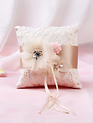cheap -Cloth Floral Nonwovens Ring Pillow Garden Theme / Pillow / Wedding All Seasons
