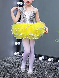 cheap -Kids' Dancewear Dresses Girls' Training / Performance Elastane Paillette Sleeveless High Leotard / Onesie / Bracelets