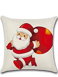 cheap -1pcs Merry Christmas Decorative Polyester Pillowcases Christmas Pillow Case Cover Santa Claus Elk Pillowcase