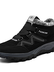 cheap -Men's Comfort Shoes Leather Winter Casual Athletic Shoes Walking Shoes Warm Black / Gray