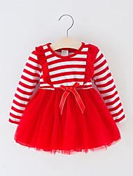 cheap -Kids Girls' Cute Striped Dress Blue