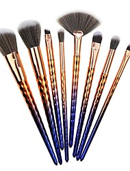 cheap -Professional Makeup Brushes 8pcs New Design Color Gradient Comfy Plastic for Makeup Brush