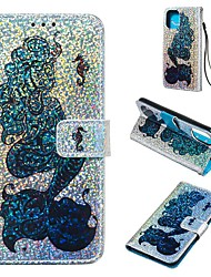 cheap -Case For Apple iPhone 11 / iPhone 11 Pro / iPhone 11 Pro Max Wallet / Card Holder / Flip Full Body Cases Animal / Glitter Shine PU Leather