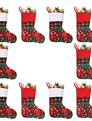cheap -Christmas Socks Gift Bags Christmas Decorations Snowflakes Small Christmas Socks Gifts Candy Socks Ornaments