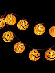 cheap -Halloween Pumpkin String Lights 1.2m 10 LED Halloween Decoration 3D Jack-O-Lantern String Lights for Halloween Party Festival Yard Patio Decoration