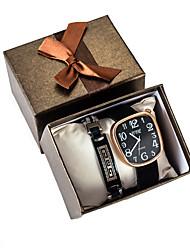 cheap -Men's Sport Watch Quartz PU Leather Black No Chronograph Cute Creative Analog New Arrival Fashion - Black One Year Battery Life