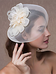 cheap -Tulle Hair Accessory with Pearls / Flower 1 PC Wedding Headpiece