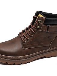 cheap -Men's Combat Boots PU Winter Classic Boots Black / Brown / Khaki
