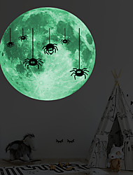 cheap -Decorative Wall Stickers - Luminous Wall Stickers / Animal Wall Stickers Landscape / Halloween Decorations Living Room / Bedroom / Kitchen