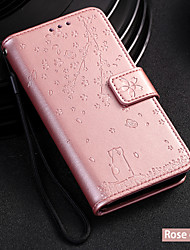cheap -Case For LG LG V30 / LG Stylo 4 / LG Stylo 5 Wallet / Card Holder / with Stand Full Body Cases Cat / Tree PU Leather