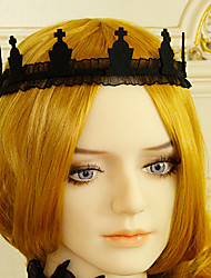 cheap -Women's Headbands For Halloween Theme Party Classic Imitation Pearl Fabric Black 1