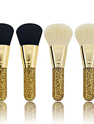 cheap -Professional Makeup Brushes 3pcs Eco-friendly Professional Creative New Design Sexy Lady Goat Hair Plastic for Blush Brush Makeup Brush