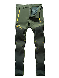 cheap -Women's Hiking Pants Softshell Pants Patchwork Winter Outdoor Waterproof Windproof Fleece Lining Breathable Softshell Pants / Trousers Bottoms Camping / Hiking Hunting Fishing Dark Grey Army Green S