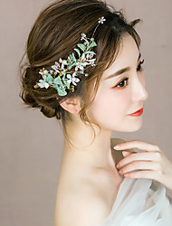 cheap -Alloy Hair Accessory with Flower 1 pc Special Occasion Headpiece