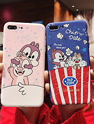 cheap -Case For Apple iPhone XS / iPhone XR / iPhone XS Max/7 8 plus/6splus/6s Pattern Back Cover 3D Cartoon TPU