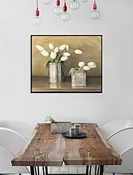 cheap -Framed Art Print Framed Set - Still Life Floral / Botanical PS Oil Painting Wall Art