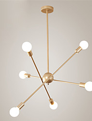 cheap -6-Light Nordic Style Molecules Chandelier With 6 Lights Fixture Flush Mount Modern Living Room Dining Room Bedroom Pendant Lights