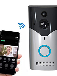 cheap -Factory OEM HH-D03 WIFI Recording No Screen(output by APP) Telephone One to One video doorphone