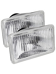 cheap -2PCS 4x6 Inch Rectangle Car Headlights with H4 Halogen Lamps 55W for Toyota Hilux Ute 1983-2003