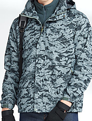 cheap -Men's Hiking 3-in-1 Jackets Hiking Jacket Winter Outdoor Patchwork Waterproof Windproof Breathable Warm Jacket Top Ski / Snowboard Climbing Camping / Hiking / Caving Army Green / Red / Blue / Grey