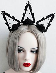 cheap -Women's Headbands For Halloween Club Bar Theme Party Flower Series Classic Fabric Iron Black 1