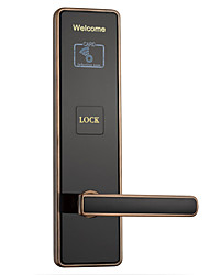 cheap -Factory OEM KD8606RF-YS Zinc Alloy Card Lock Smart Home Security Android System RFID Home / Office / Hotel Wooden Door (Unlocking Mode Card)