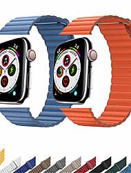 Недорогие -ремешок из натуральной кожи для apple watch band 44mm 40mm 42mm 38mm кожаный браслет с магнитной петлей iwatch 5 4 3 2 аксессуары
