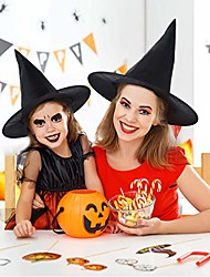 cheap -Black Witch Hats Masquerade Wizard Hat Party Hats Cosplay Halloween Party Fancy Dress Decor Top Hat