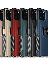 cheap -Leather Armor Magnetic Ring Phone Case For iphone 11 Pro Max / iphone 11 Pro / iphone 11 Shockproof Hard PC Stand Cover For iphone XS Max XR XS X 8 Plus 8 7 Plus 7 6 Plus 6 Silicone Soft TPU Edge