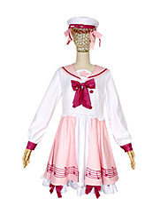 cheap -Inspired by Vocaloid Snow Miku 2018 Anime Cosplay Costumes Japanese Cosplay Suits Hair Jewelry / Dress / Socks For Women's / Hat / Hair Band