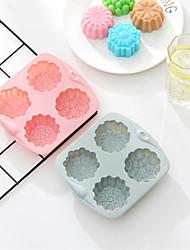 Недорогие -Силиконовый инструмент для выпечки 4 различных моделей 3d формы цветка ледяной кожи луны торт плесень сделай сам шоколадный мусс мыло желе пудинг плесень