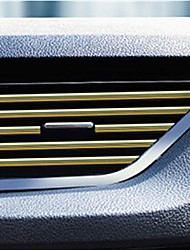 cheap -Car Interior Air Conditioner Outlet Vent Grille Strips Decoration U Shape Interior Moulding Trim Strips