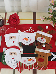 cheap -6pcs/set Christmas Decorations For Home Snowman Cutlery Bags Christmas Santa Claus Kitchen Dining Table Cutlery Suit Set Decor