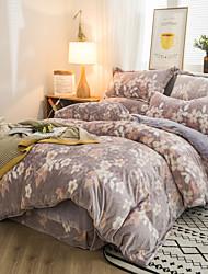 cheap -Warm 6D Three-Dimensional Carved Velvet Baby Cashmere Flannel Crystal Velvet 4 Piece Bedding Set