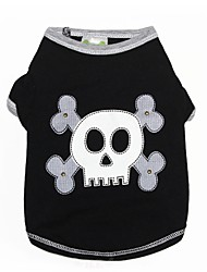 cheap -Dogs Vest Dog Clothes Black Halloween Costume Baby Small Dog Polyster Skull XXS XS