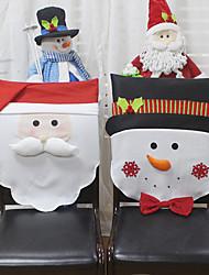 abordables -Père Noël bonhomme de neige housse de décoration hôtel restaurant festival arrangement chaise housse