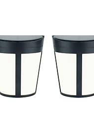 Недорогие -2шт 3 Вт газонные светильники / наружные настенные светильники / солнечный настенный светильник водонепроницаемый / солнечный / творческий 2 режима дополнительно rgbwarm 1.2 В наружное освещение /