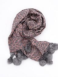 Недорогие -Жен. Классический Прямоугольный платок Леопард