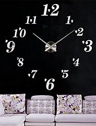Недорогие -Современный / Сделай-сам Акрил / Нержавеющая сталь Круглый Классика В помещении Аккумуляторы AA Украшение Настенные часы Цифровой Нержавеющая сталь Нет